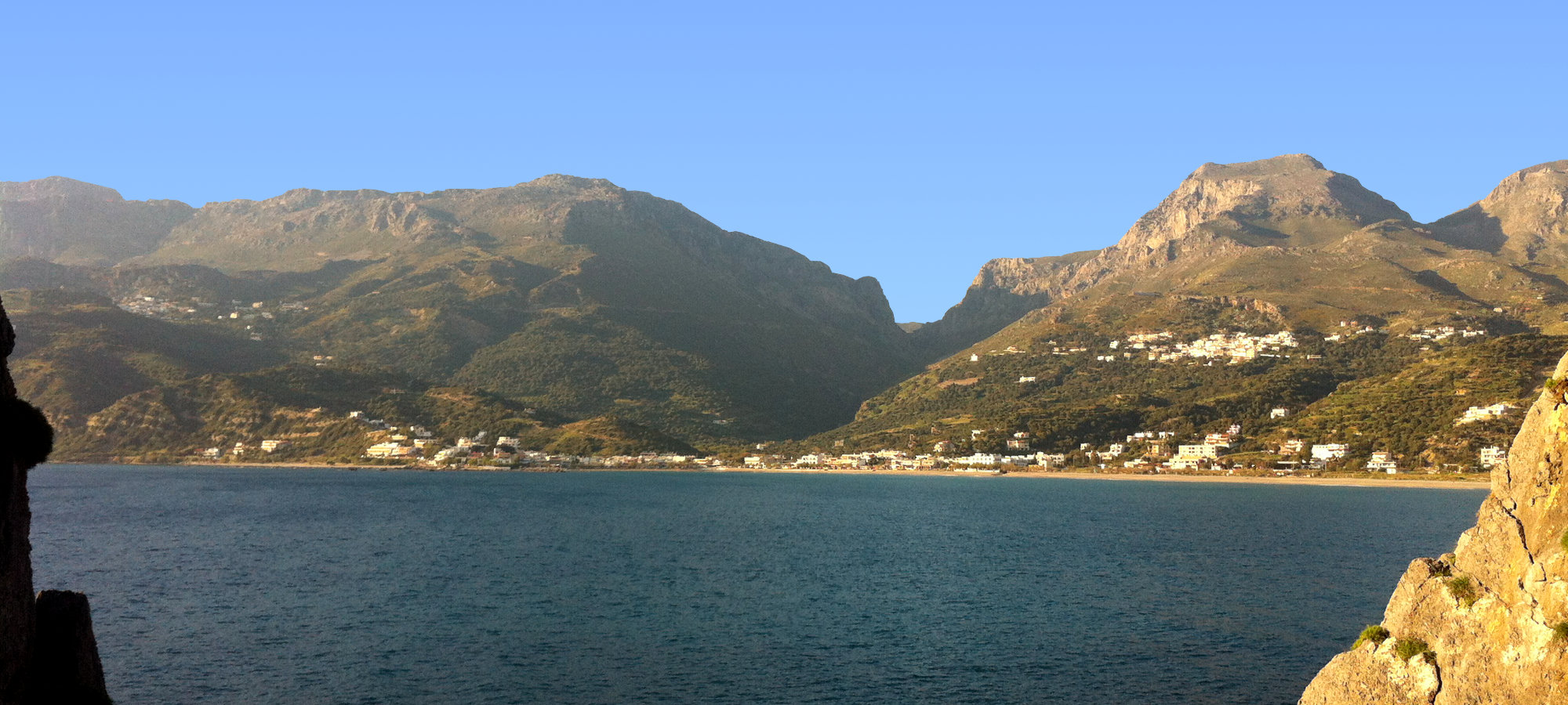 Plakias Bay and the Mountains